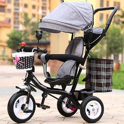 Carrito de bebé Triciclo de niños Bicicletas de bebé para Hombres y Mujeres/ Carrito de
