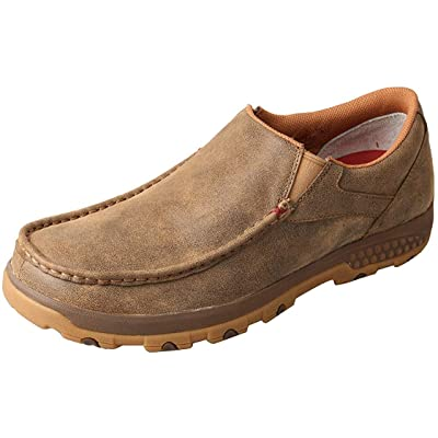 Twisted X Men's CellStretch D Toe Driving Mocs Casual Slip-On Shoes - Bomber | Loafers & Slip-Ons
