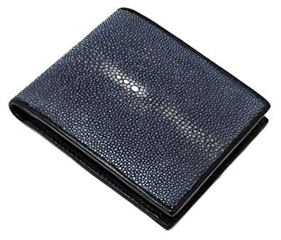 ccb3942dc9a7 財布 折財布 エイ革 本革 スティングレイ 二つ折り 短財布 レザー メンズ SJSK