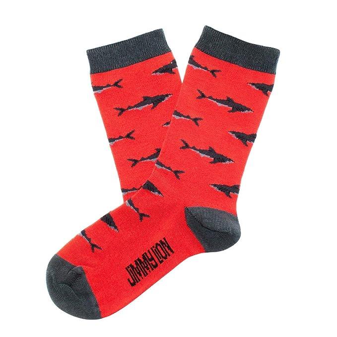 Jimmy Lion Calcetines Tiburon Rojo Talla 26-30: Amazon.es: Ropa y accesorios