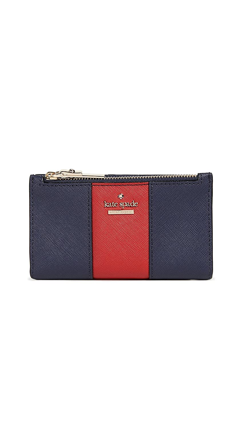 Kate Spade New York Women's Cameron Street Mikey Wallet with Racing Stripe Blazer Blue/Heirloom Red One Size Kate Spade-Handbags/Other Access.