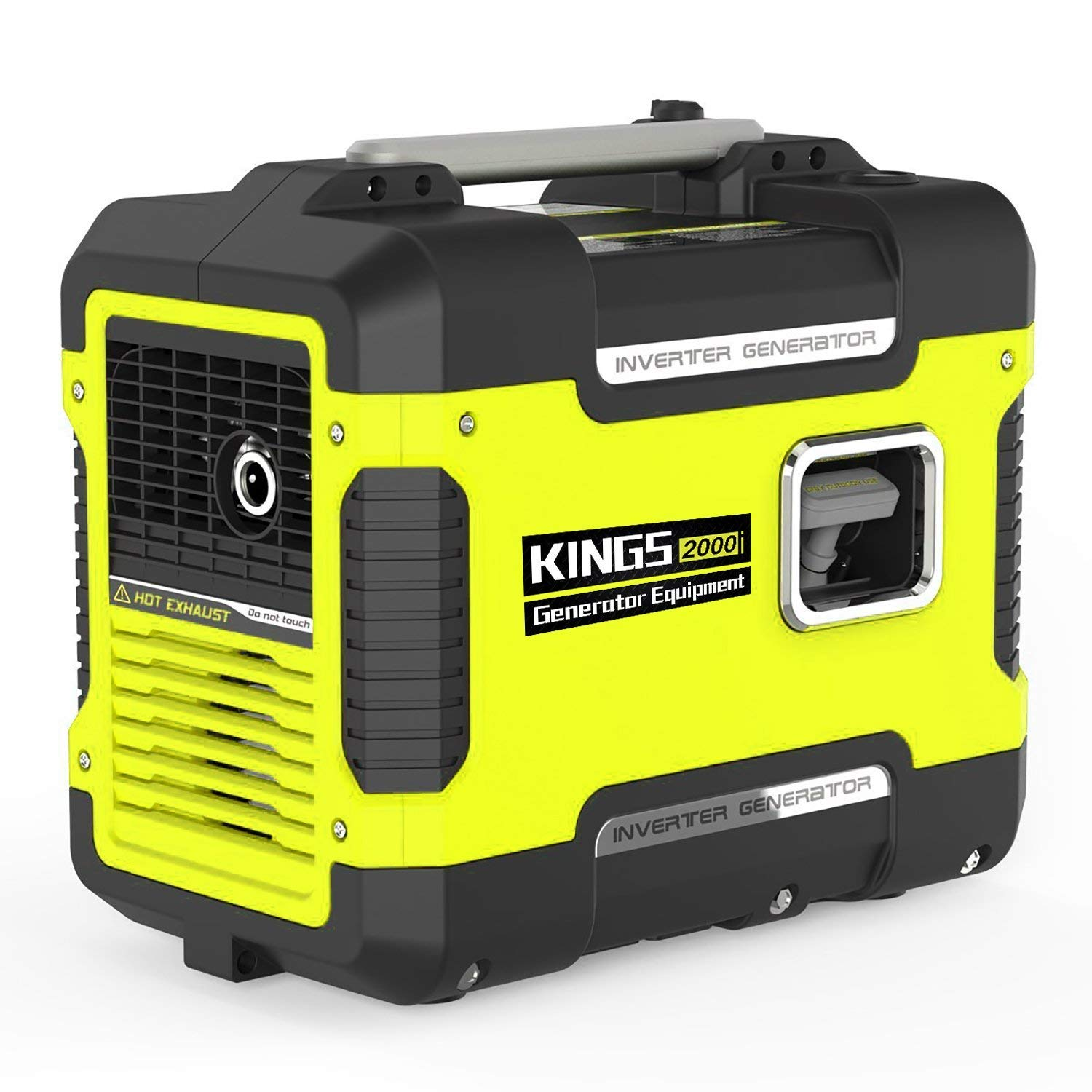 Kings Inverter Generator Portable 2000 W,Ultra Quiet Generator Power Station With 12V DC,120 AC,Gas Power