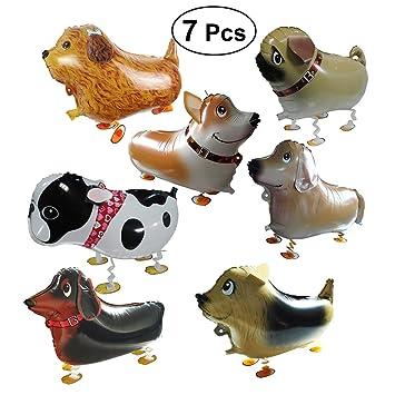 Yeahibaby 7 Unids Animal de Dibujos Animados Walking Foil Globos Mascota Globo Juguete Decoraciones de Cumpleaños de La Boda Favores de Partido ...