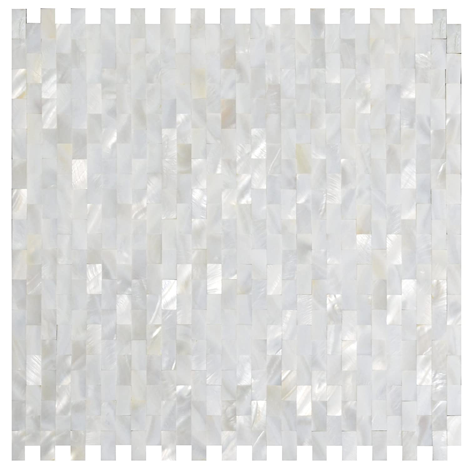 white mother of pearl tile seashell tile kitchen backsplash bathroom tile wall tile mosaic tile amazoncom
