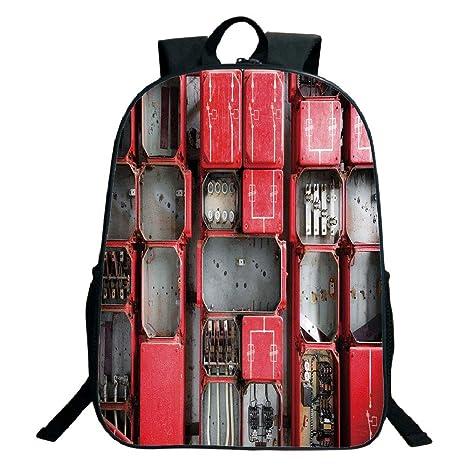 ec1209359b85 Amazon.com: 3D Print Design Black School Bag,backpacksIndustrial ...