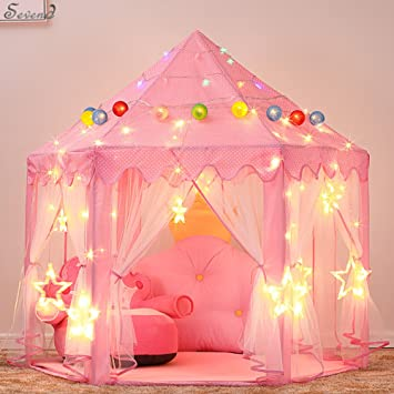 Childrenu0027s Indoor and Outdoor Hexagon Fairy Princess Castle Play Tent Sevend Outdoor Fairy House for & Amazon.com: Childrenu0027s Indoor and Outdoor Hexagon Fairy Princess ...