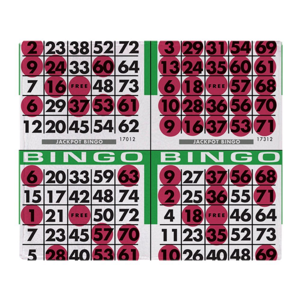 CafePress - Jackpot Bingo Cards 1 Bag - Soft Fleece Throw Blanket, 50''x60'' Stadium Blanket