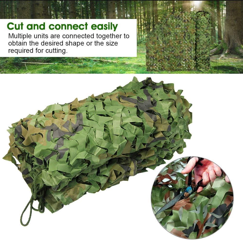 3M pour Chasse Militaire Camping D/éco Photographie Ext/érieur IGRMVIN Filet de Camouflage Arm/ée en Tissu Oxford Camouflage Arm/ée Filet de Camouflage Brise-Vue Protection Solaire Woodland 2