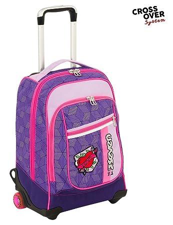 negozio online 6093f d944d Seven- Zaino Maxi Trolley Rebel Girl Ovale, 201001829-392