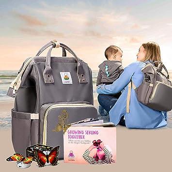 Amazon.com: Mochila para pañales diseño de bebé bolsas para ...