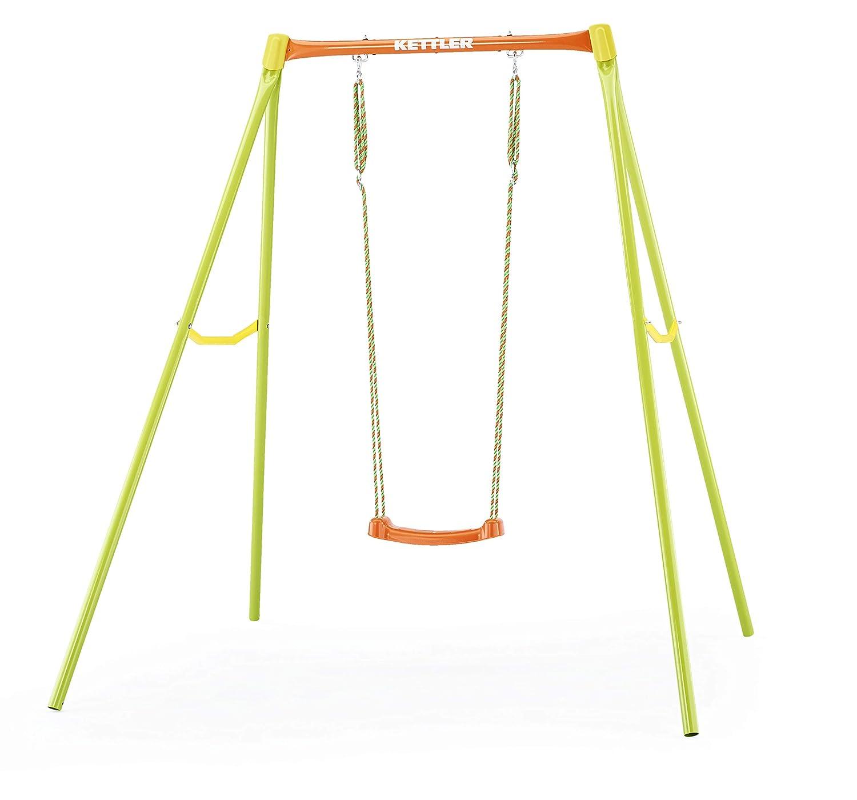 Kettler Balançoire de Jardin pour Enfants - Couleuré Orange et Vert - avec Deux ou Trois sièges - Fabriqué en Allemagne