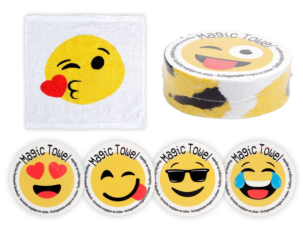 Amazon.com: EMOJI - Magic Towel, Family Set of 6 - Just Add Warm Water!!: Toys & Games