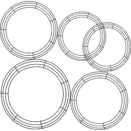 Amazon Com Tatuo 5 Pieces Metal Wreath Frame Ring Round Diy Macrame