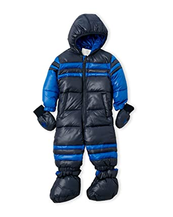 56cfd1db84a8 Amazon.com  DIESEL Baby Boy Hooded Snowsuit Black Print  Clothing