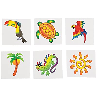 Fun Express Tropical Tattoos (6 Dozen) - Bulk: Toys & Games [5Bkhe1006588]