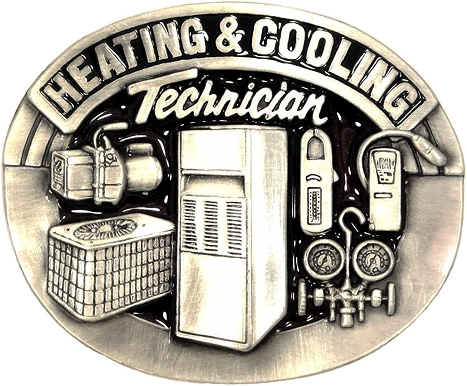 HEATING AND COOLING TECHNICIAN OCCUPATION BELT BUCKLE