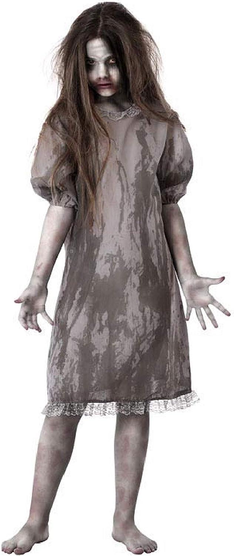 Girls Horror Zombie School Costume Scary Dead Halloween Fancy Dress Outfit New