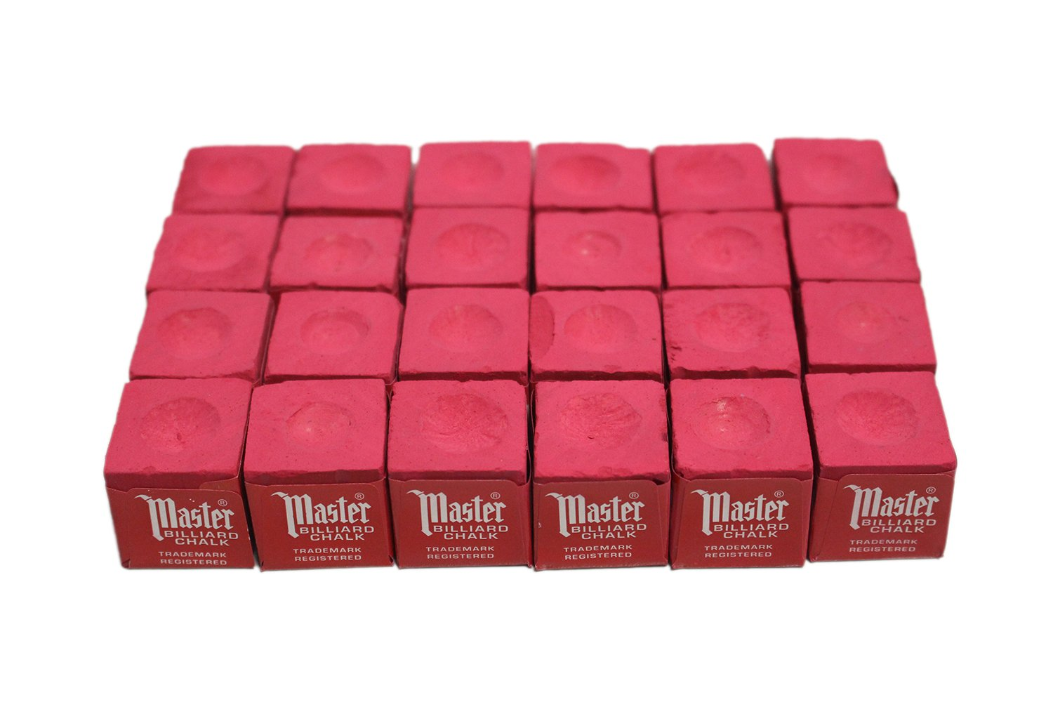 24 pcs Red Master Pool Cue Chalk Tweeten Fibre Co