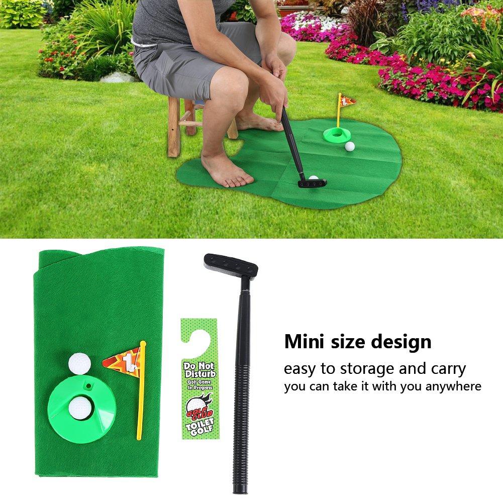 Amazon.com: Juego de palos de golf para inodoro, para baño ...