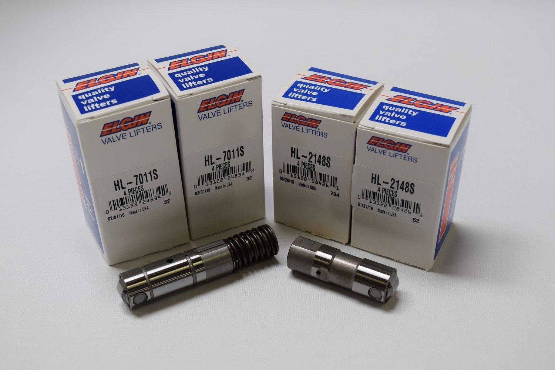 Chevy/GMC 5.3/5.3L 6.0/6.0L Active Fuel Management AFM Valve Lifter 1/2-Set (8) ((1/2) SET For AFM) ELgin Industries (4)HL-7011S & (4)HL-2148S