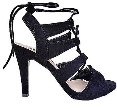 Nouveau Sandales Des chaussures à talons hauts Femme Chaussure-laçage. KJG58Ld