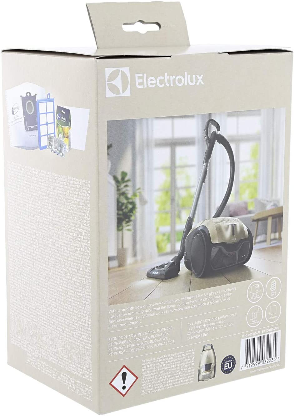 Electrolux ESKD9 Aspiradora cilíndrica Bolsa para el Polvo - Accesorio para aspiradora (Aspiradora cilíndrica, Bolsa para el Polvo, Multicolor): Amazon.es: Hogar