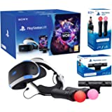 "PlayStation VR ""Starter Plus Pack"" Camera V2 + VR Worlds + Paire Move Controllers"