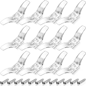 Blind Cord Cleats Safety Rope Cleats Plastic Transparent Window Cord Cleats Blind Cord Winders with Screws for Home Office Window Blinds Curtains Sun Shades Ropes (24)
