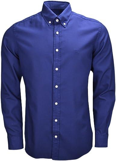 Hackett London GMT Dyed Oxford SL Camisa para Hombre