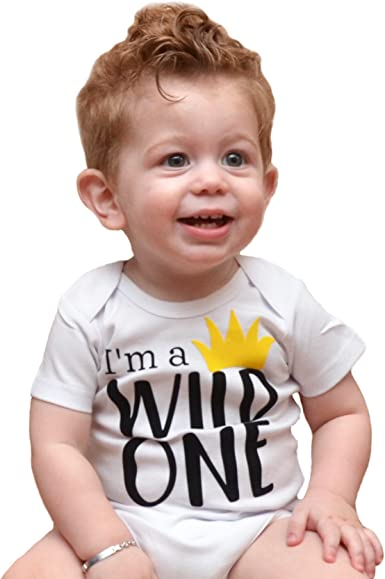 Trendy Boy First Birthday Party Outfit Wild One 1st Birthday Shirt Boy First Birthday Outfit One Year Old Birthday Gift
