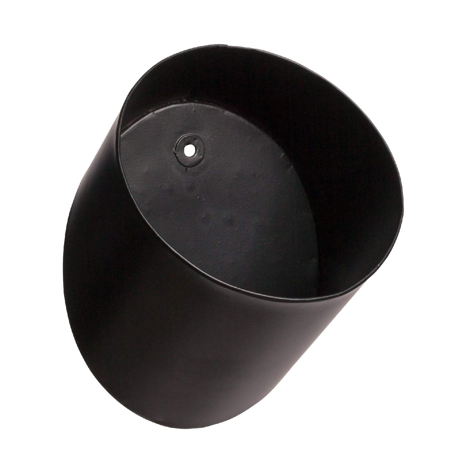 Pine & Paint Wall Pocket Metal Cylinder Hanging Planter Modular Organizer (Black)