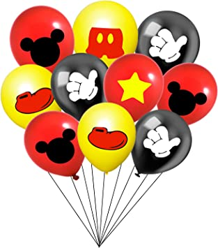 Amazon.com: 30 globos de fiesta de Mickey Mouse de 12 ...