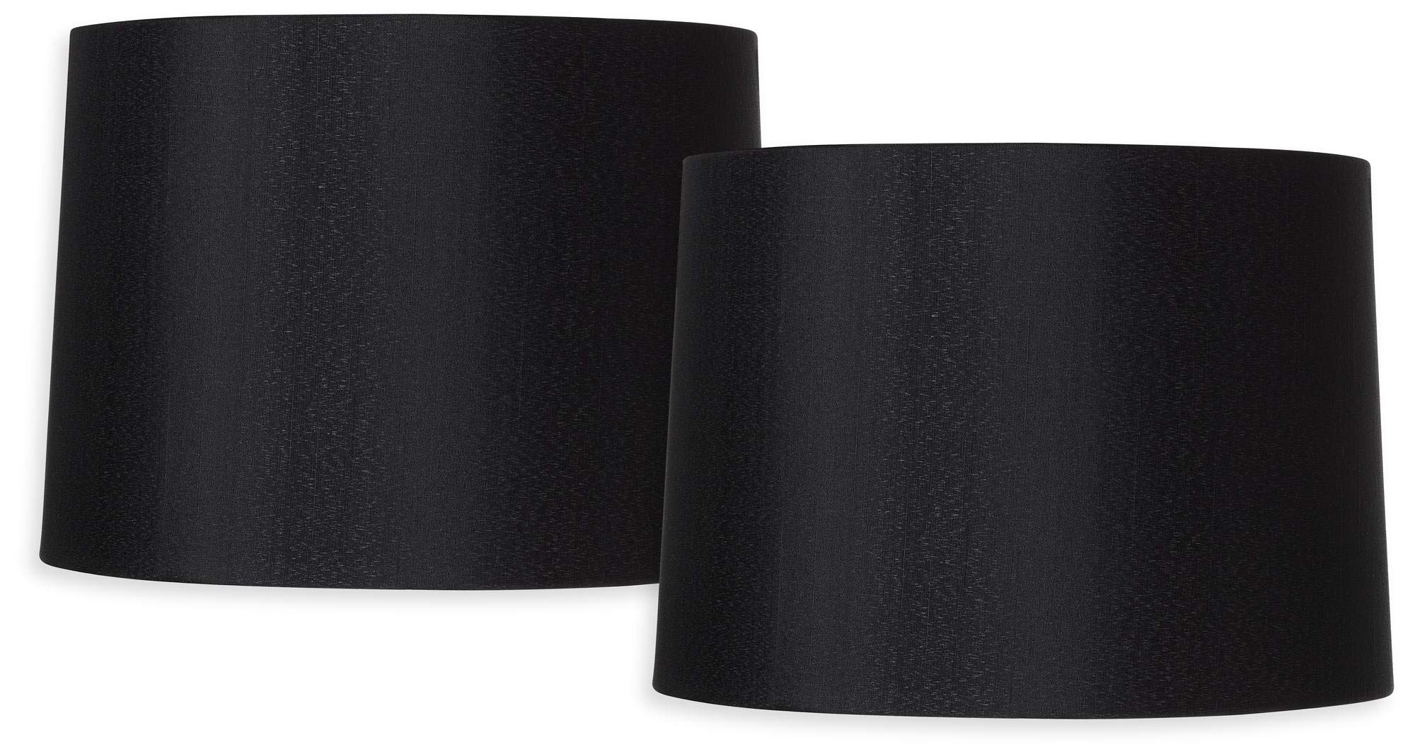 Black Set of 2 Hardback Drum Shades 13x14x10.25 (Spider) - Brentwood
