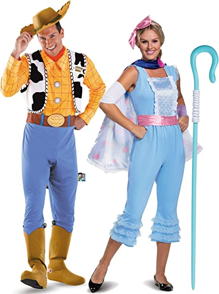 BuyCostumes Toy Story Woody and Bo Peep - Disfraz de Pareja M ...