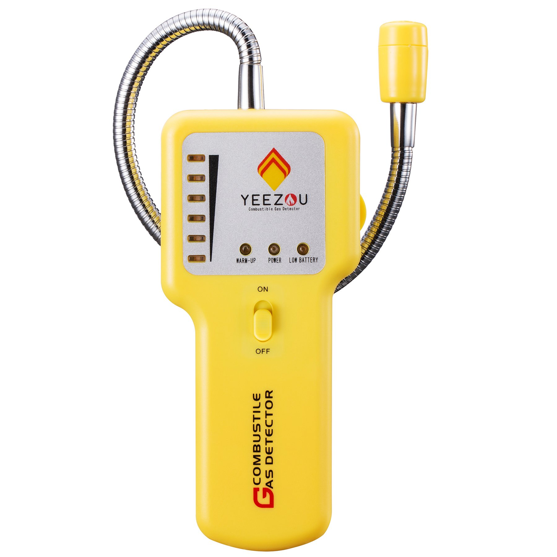 Natural Gas Detector,Portable Propane/Methane/Combustible Gas Sniffer Leak Sensor Alarm Tester with Sound Light Warning