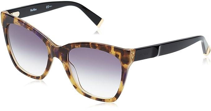 Max Mara Mm Modern IV 9C U7Y 55 Gafas de Sol, Amarillo (Yllwhvn Blck/Dk Grey SF), Mujer