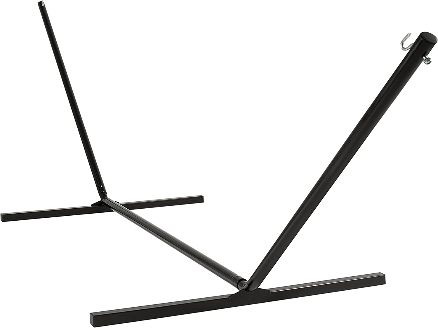 Best Choice Products 15ft Weather-Resistant Steel Beam Hammock Stand w/Adjustable Hanging Hooks and Powder-Coated Finish, Black