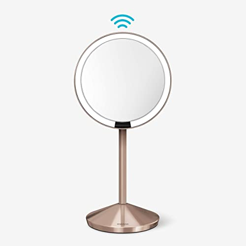 simplehuman Mirror 10X magnification with 12 cm Sensor, Rose gold makeup mirror ST3010