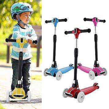 weskate R5 Niños Scooter – Patinete, ajustable y plegable Kick Roller Cubo de patinete con