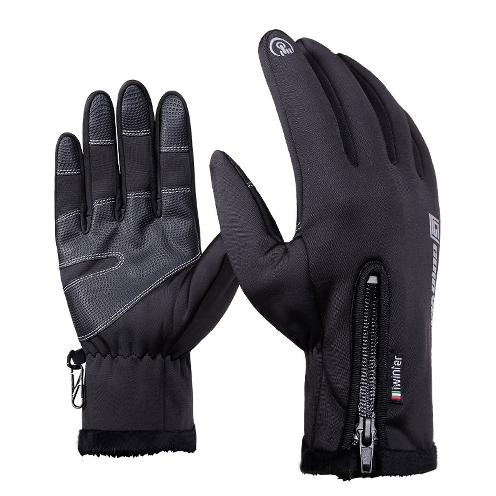 Cycling Gloves, Touch Screen Warm Waterproof Winter Spring Outdoor Running Climbing Skiing Glove Motorcycle for Men Women