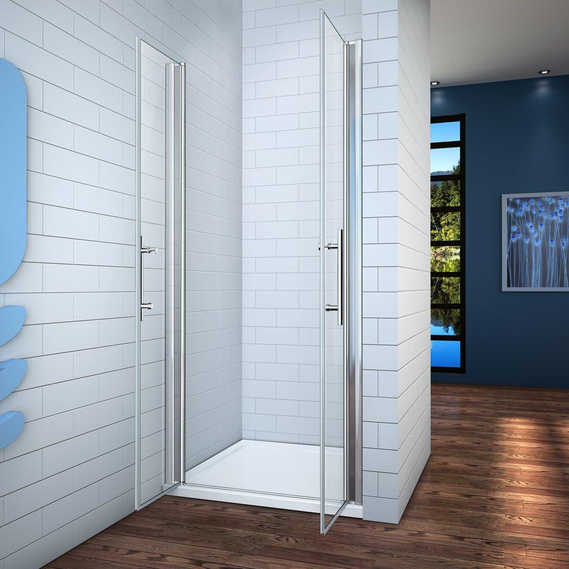 140x195cm Mamparas ducha pantalla baño 6mm Easyclean cristal templado: Amazon.es: Bricolaje y herramientas