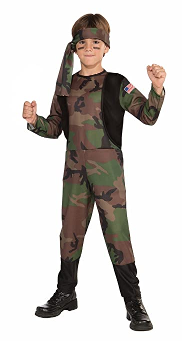 Forum Novelties Camo Soldier Costume, Child Medium