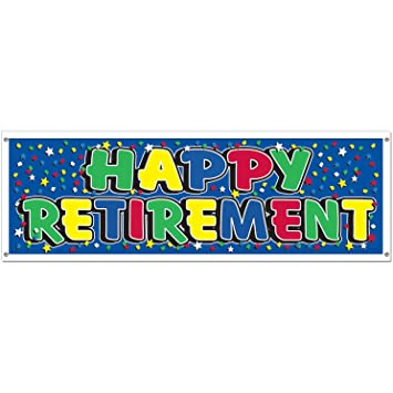 Amazon.com: Happy Retirement Sign Banner Party Accessory (1 count ...