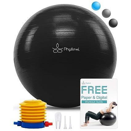 Bal/ón De Ejercicios Con Bomba Viavito 200kg Gymball Anti-Pinchazos