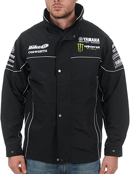 Chaqueta Yamaha Monster Energy Racing Paddock Negro: Amazon ...