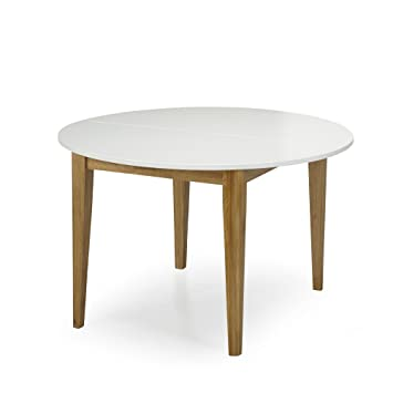 Alinéa Siwa Table de Repas Ronde D120cm avec allonge Blanc ...