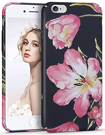921e8fb60e Imikoko iPhone6s Plus ケース iPhone6 Plus ケース 耐衝撃 かわいい おしゃれ 薄 花柄 女性人気