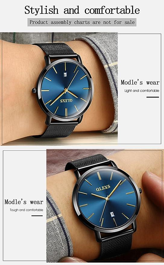 Amazon.com: olves banda de reloj de acero inoxidable viene ...