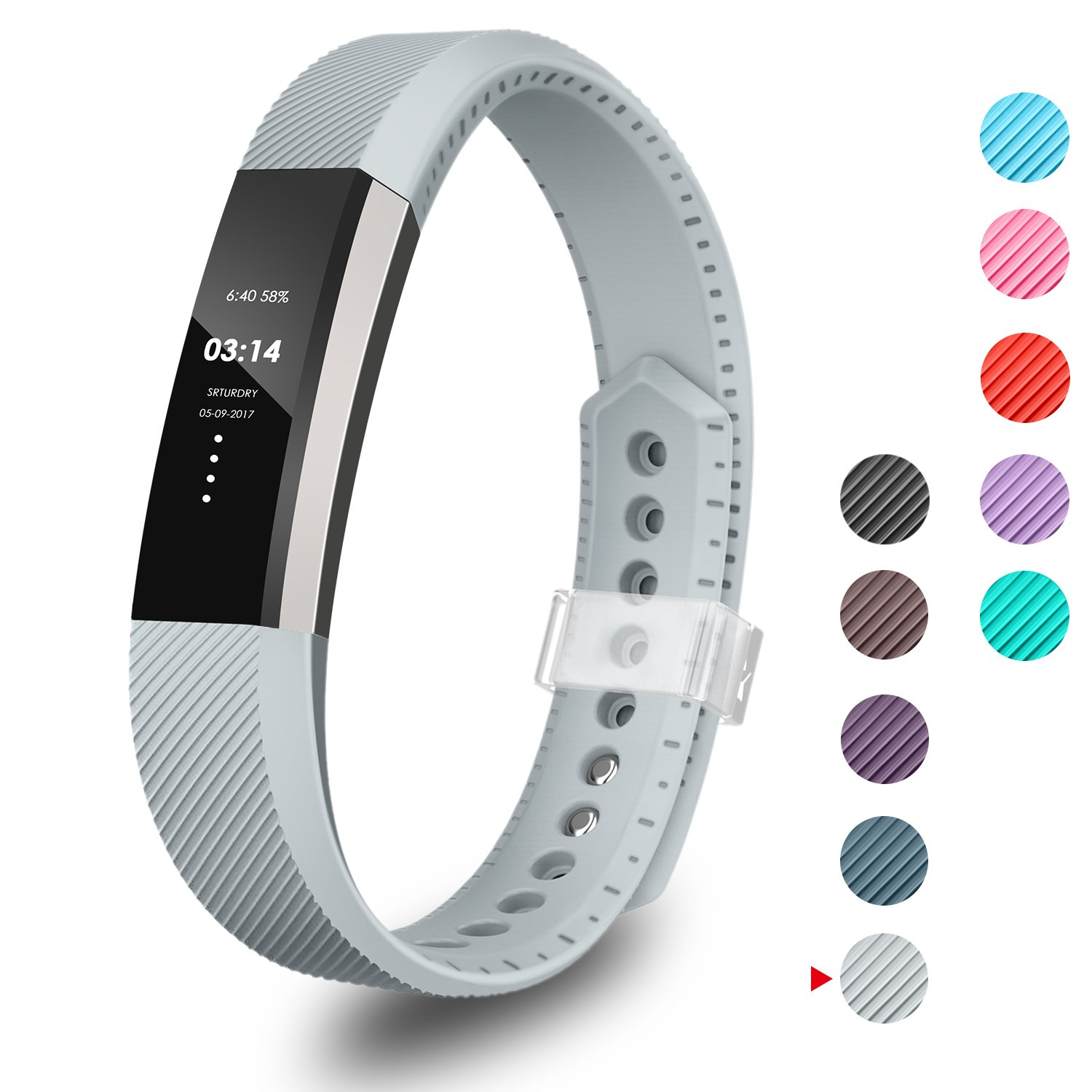 GreenInsync Compatible Fitbit Alta Bands, Replacement for Fitbit Alta Accessory Band Small/Large Bracelet Straps for Fitbit Alta& Alta HR/Fitbit Ace Wristbands for Women Men Boys Girls