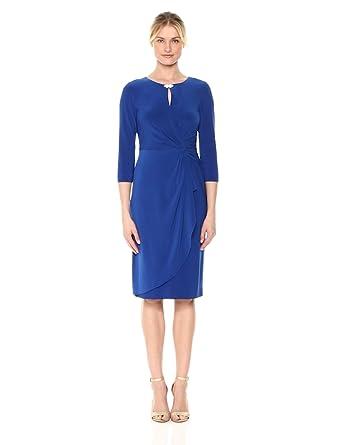 0fb810fce15d1c Alex Evenings Women's Dress with Keyhole Cutout (Petite and Regular),  Royal, ...